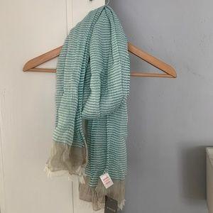 Women's Pistil Pita Scarf, Aqua Stripe